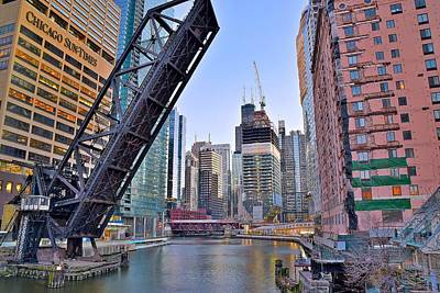 New Buildings Seen From Kinzie Street Poster