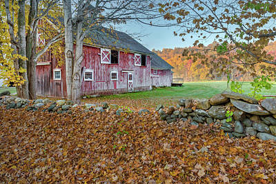 New England Barn 2016 Poster by Bill Wakeley