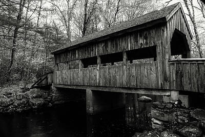 New England Covered Bridge Poster