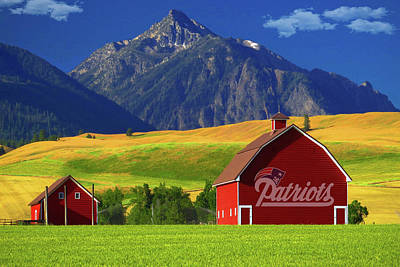 Poster featuring the photograph New England Patriots Barn by Movie Poster Prints