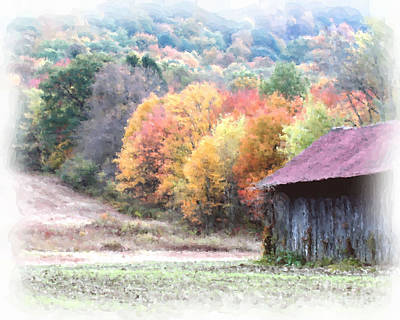 New England Tobacco Barn In Watercolor Poster by Smilin Eyes  Treasures