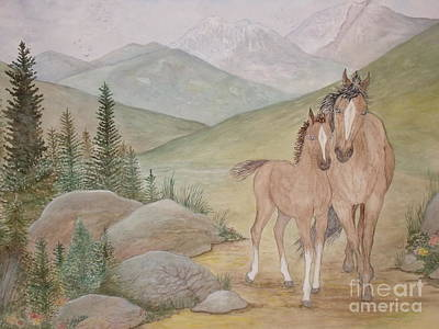 New Foal In The Foothills Poster