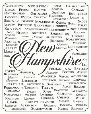 New Hampshire Poster by Finlay McNevin