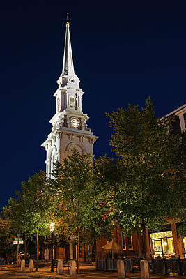 Poster featuring the photograph New Hampshire Portsmouth North Church by Juergen Roth