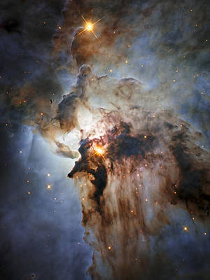 New Hubble View Of The Lagoon Nebula Poster