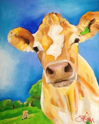 New Jersey Cow Poster