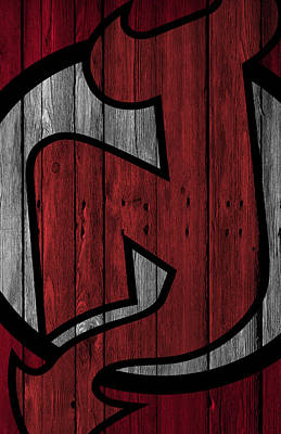 New Jersey Devils Wood Fence Poster