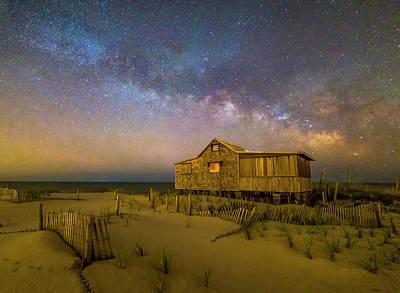 New Jersey Shore Starry Skies And Milky Way Poster by Susan Candelario