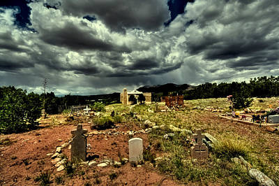 New Mexico Graveyard Poster by David Patterson