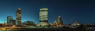 Poster featuring the photograph New Milwaukee Skyline by Randy Scherkenbach