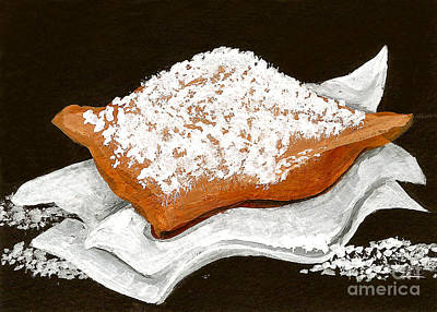 New Orleans Beignet Poster by Elaine Hodges