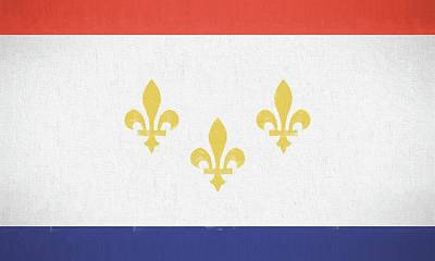 Poster featuring the digital art New Orleans City Flag by JC Findley