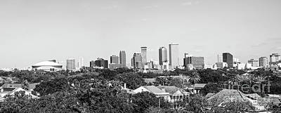 New Orleans Downtown Skyline Panorama - Bw Poster