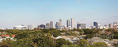 New Orleans Downtown Skyline Panorama Poster