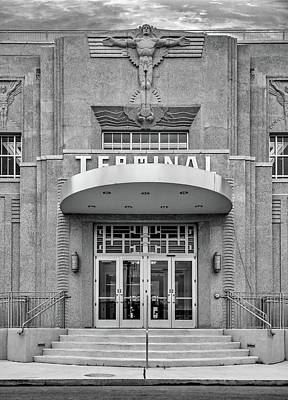 New Orleans Lakefront Airport Bw Poster by Steve Harrington