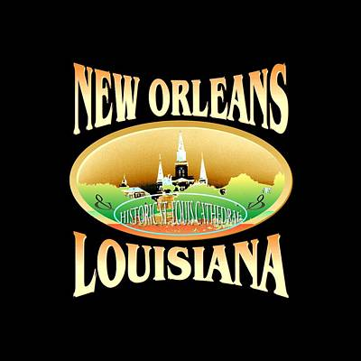 New Orleans Louisiana Tshirt Design Poster