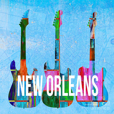New Orleans Music Scene Poster by Edward Fielding