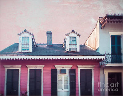 New Orleans Pink Poster by Sonja Quintero