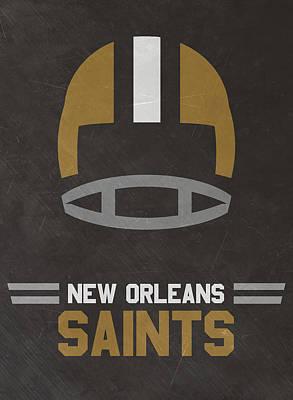 New Orleans Saints Vintage Art Poster