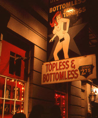 New Orleans Topless Bottomless Sexy Poster by Art America Gallery Peter Potter