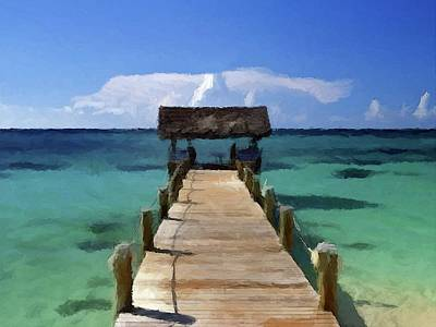 Poster featuring the photograph New Providence Island Bahamas by David Dehner