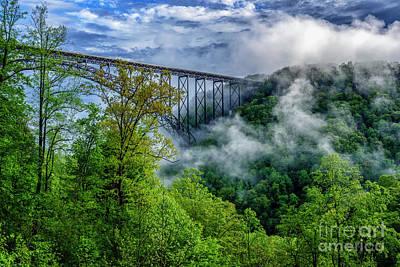 New River Gorge Bridge Morning  Poster