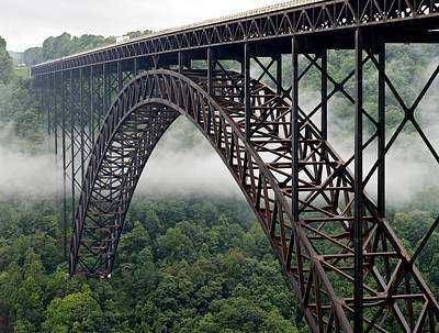 New River Gorge Bridge West Virginia Poster by Brendan Reals