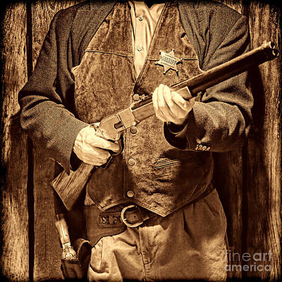 New Sheriff In Town Poster by American West Legend By Olivier Le Queinec