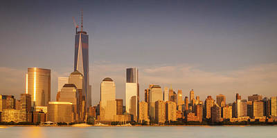 New World Trade Memorial Center And New York City Skyline Panorama Poster