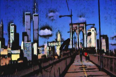 New York Blue - Modern Art Poster