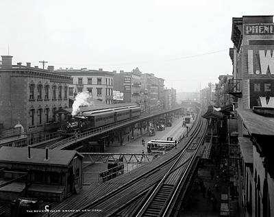 New York Bowery At Grand St.  1900 Poster by Daniel Hagerman