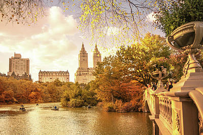 New York City Autumn Landscape Poster by Vivienne Gucwa