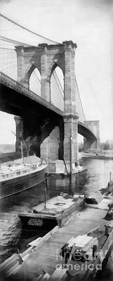 New York City Brooklyn Bridge Poster by Edward Fielding