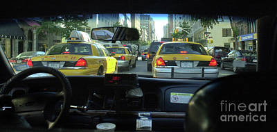 New York City Cab Ride Poster