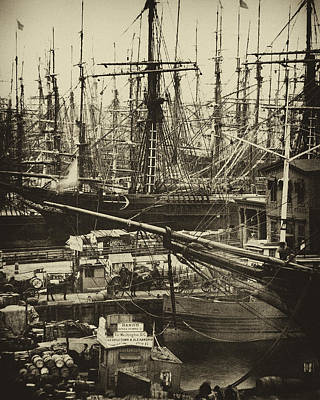 New York City Docks - 1800s Poster