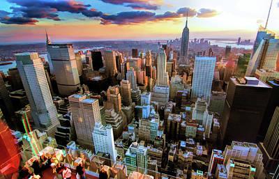 New York City Downtown Manhattan Poster