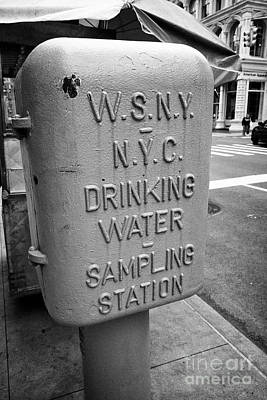 New York City Drinking Water Sampling Station Downtown Usa Poster