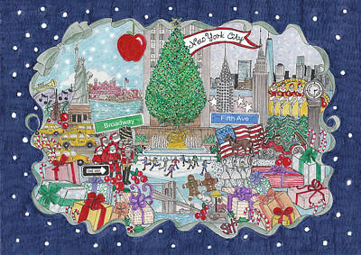 New York City Holiday Poster