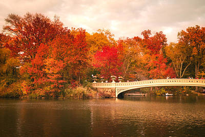 New York City In Autumn - Central Park Poster