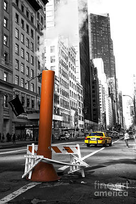 New York City Life Fusion Poster