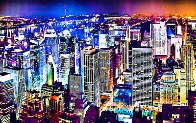 New York City Manhattan Skyline Poster by Lanjee Chee