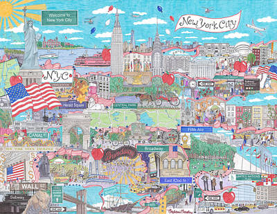 New York City On A Sunny Day Poster