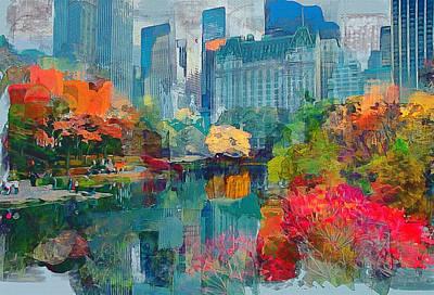 New York City Park Poster by Yury Malkov