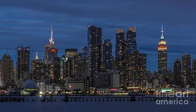 New York City Skyline Poster by Marco Crupi