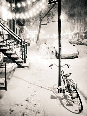 New York City - Snow Poster by Vivienne Gucwa