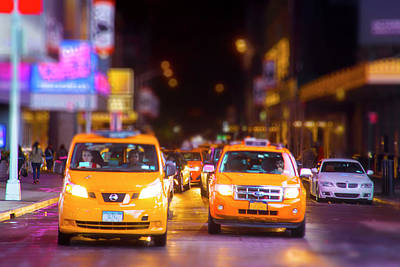 New York City Taxi Poster by Mark Andrew Thomas