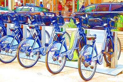 New York Citybike 2 Poster by Lanjee Chee