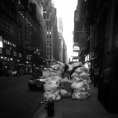 New York Footpath  Poster