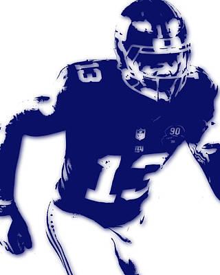 New York Giants Odell Beckham Jr Poster by Joe Hamilton