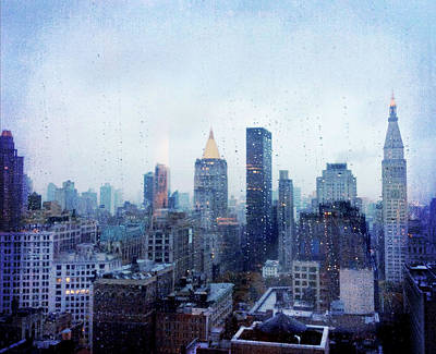 New York In Rain Poster by Terry Davis